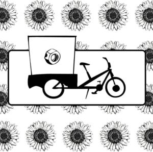 cesdames illustration cargobike en cours pour La Corde à Linge