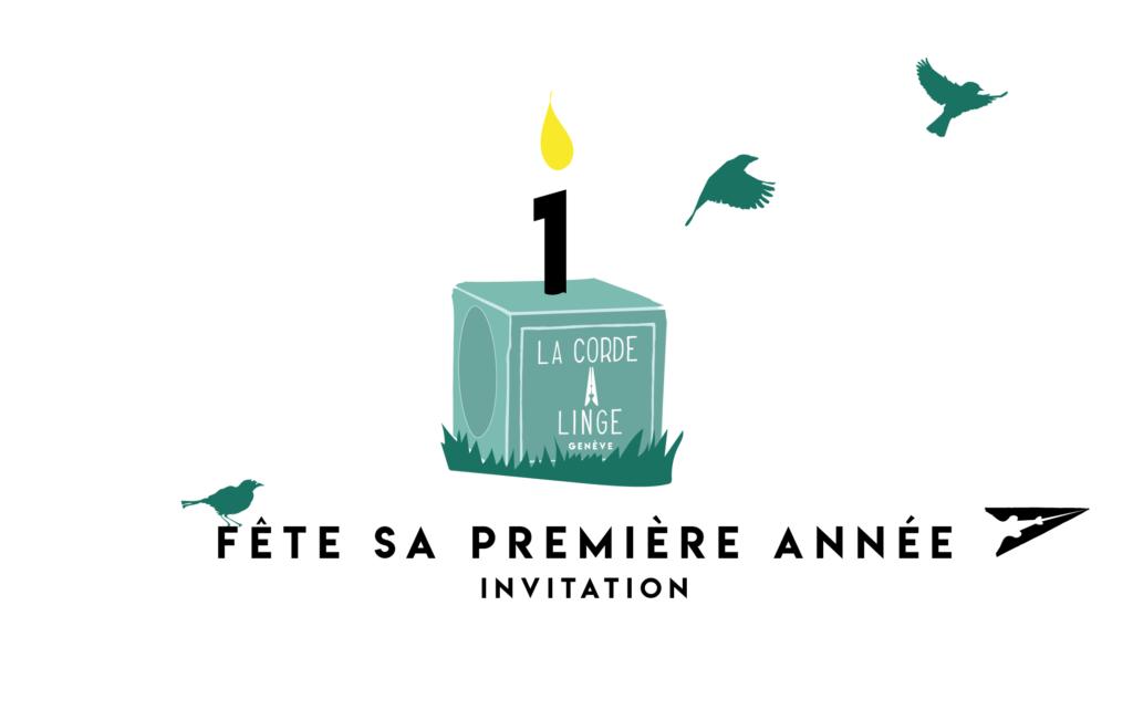 Joyeux anniversaire La Corde à Linge. Visuel Cerise Rossier