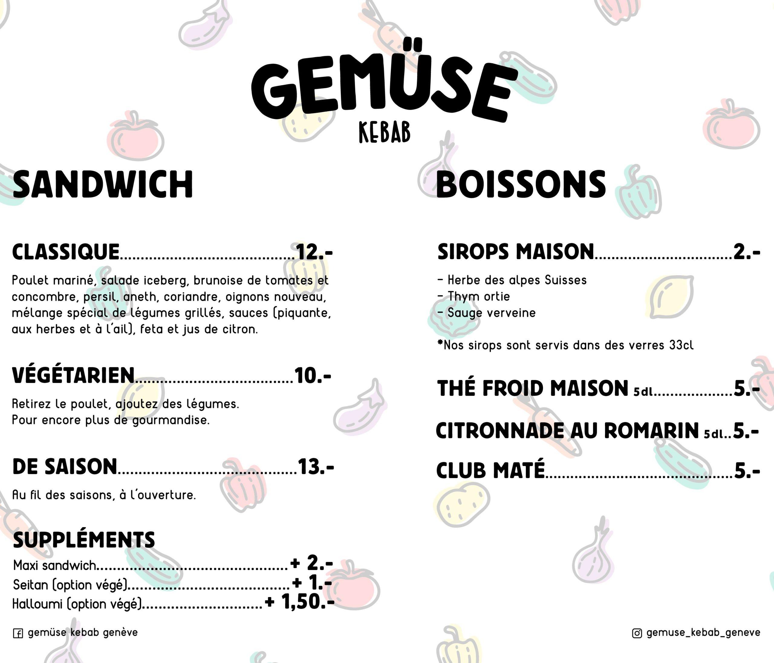 menu gemuse kebab geneve