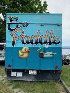 remorque eco-paddle. Titre et canards
